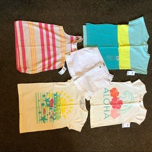 Girls t-shirts and shorts